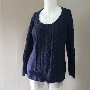 Eddie Bauer Womens Blue  Sweater L